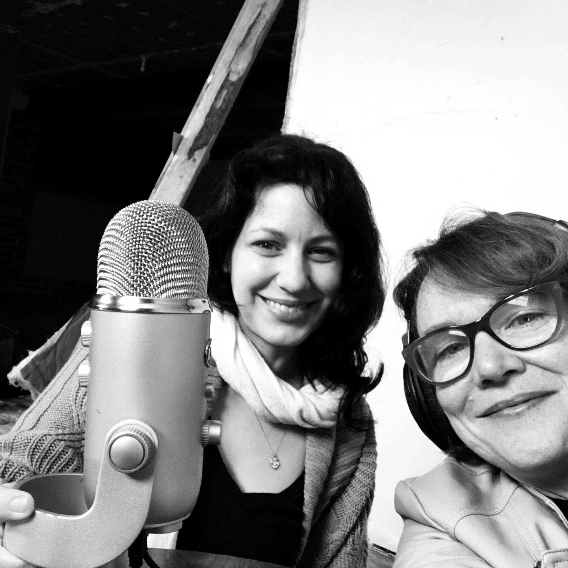 Tatiana Veneruso (L) and Vivian Liddell (R) recording at Trio Gallery.