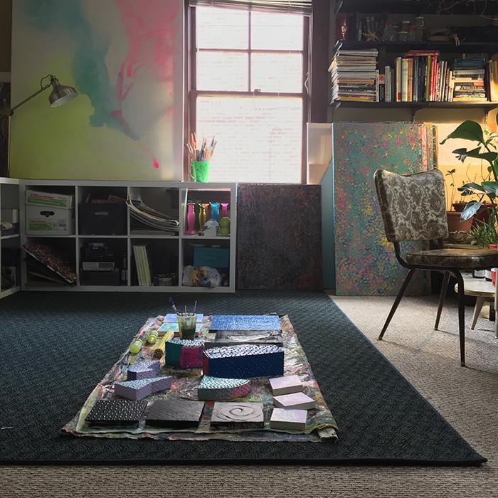 Katie Troisi's studio