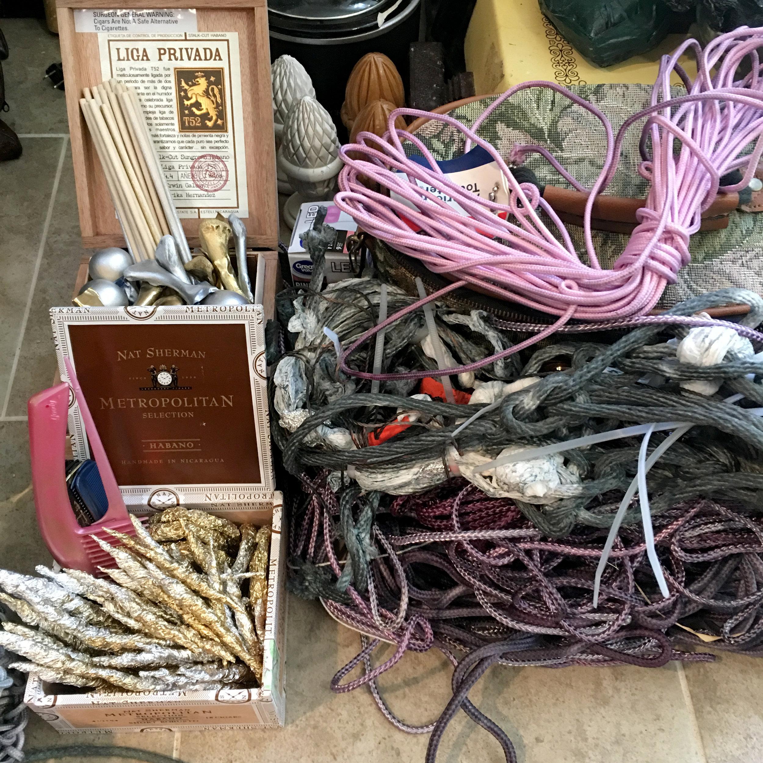 Materials in the studio.