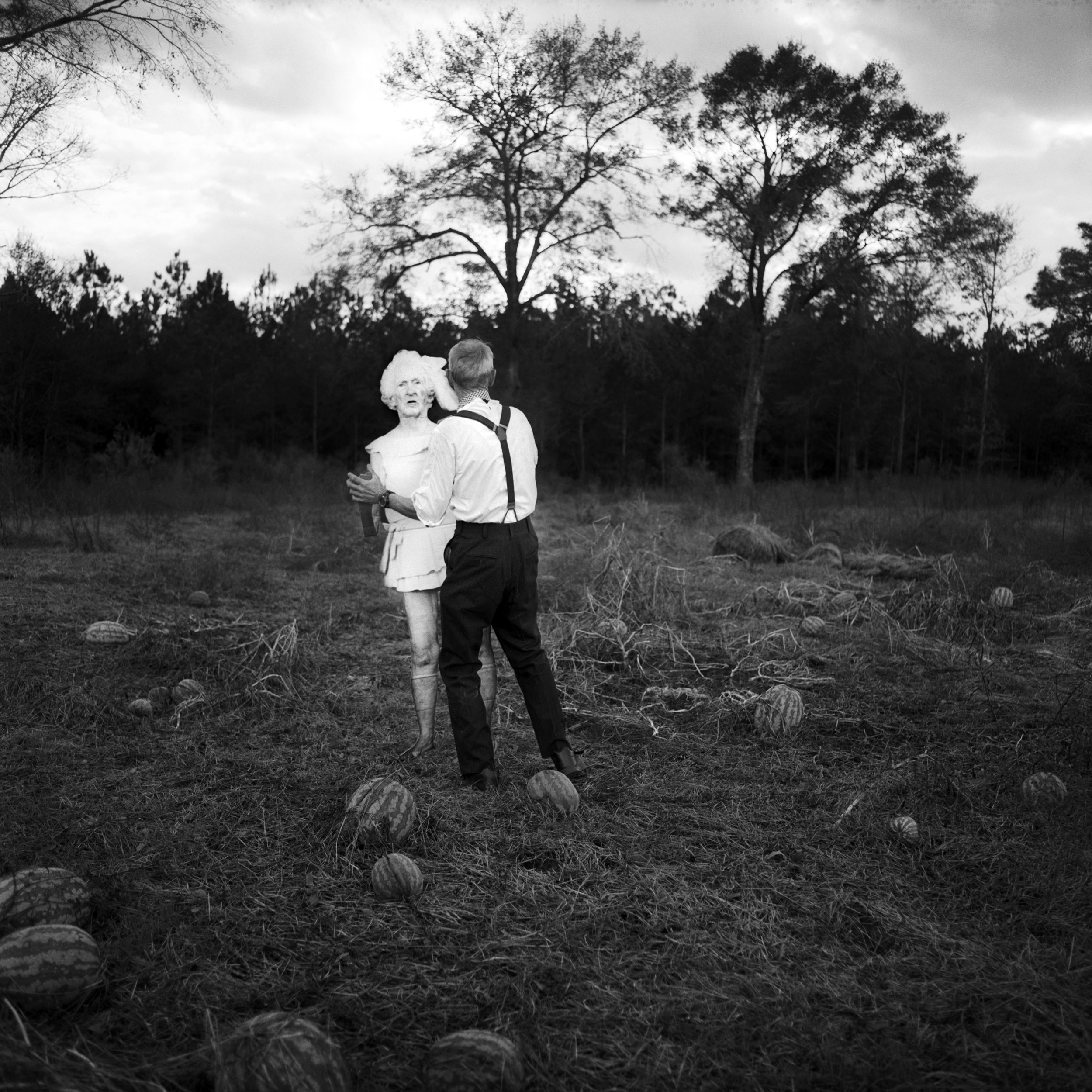 Daddy Dancing with Flat Granny , 2013, archival pigment print, by Jenny Fine.