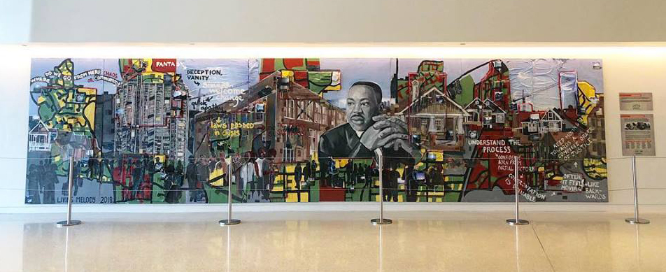 Living Melody Collective's Mural at the Center for Civil and Human Rights