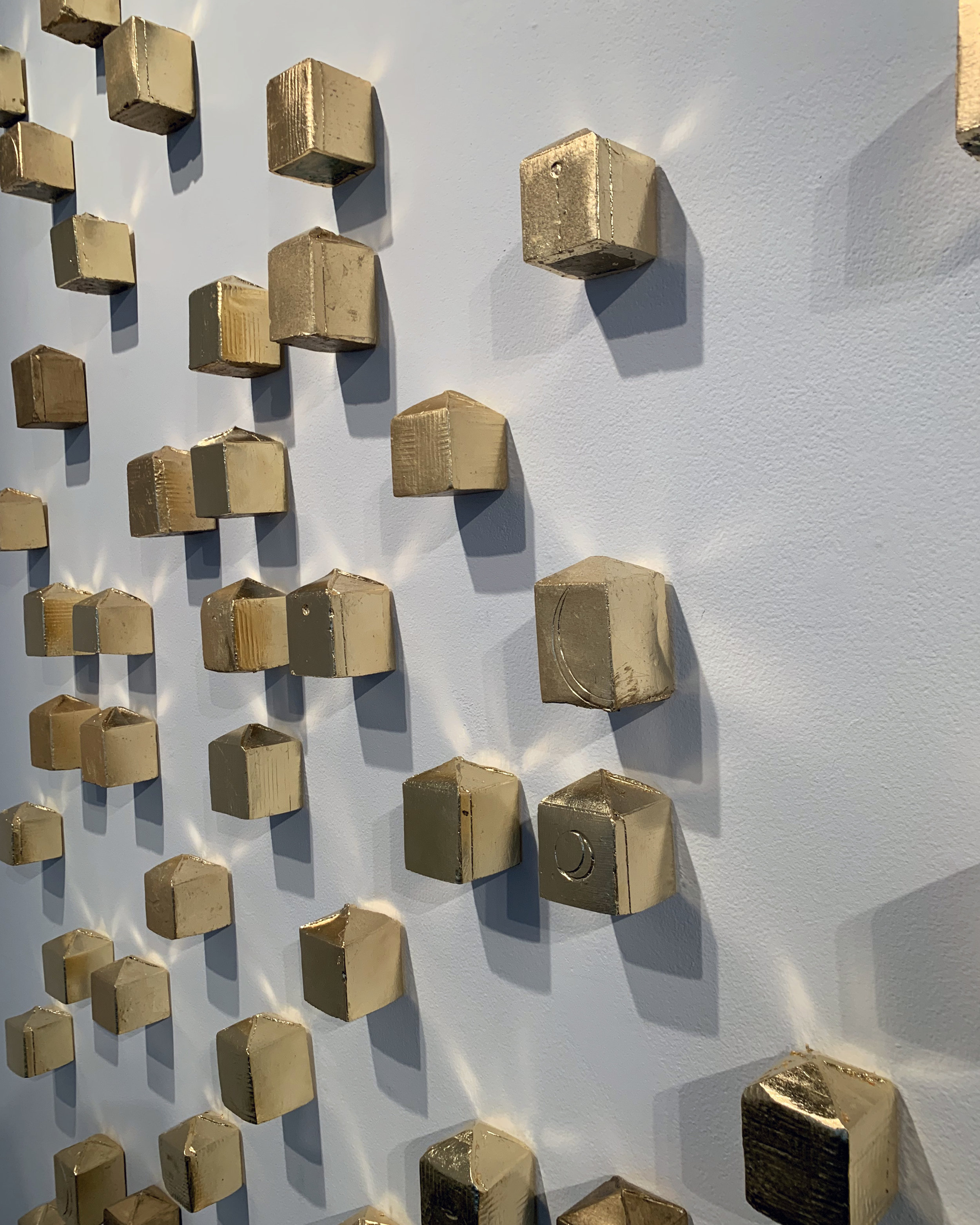 """Donna Mintz' installation from her exhibition """"Ex Astris"""" at Sandler Hudson Gallery."""