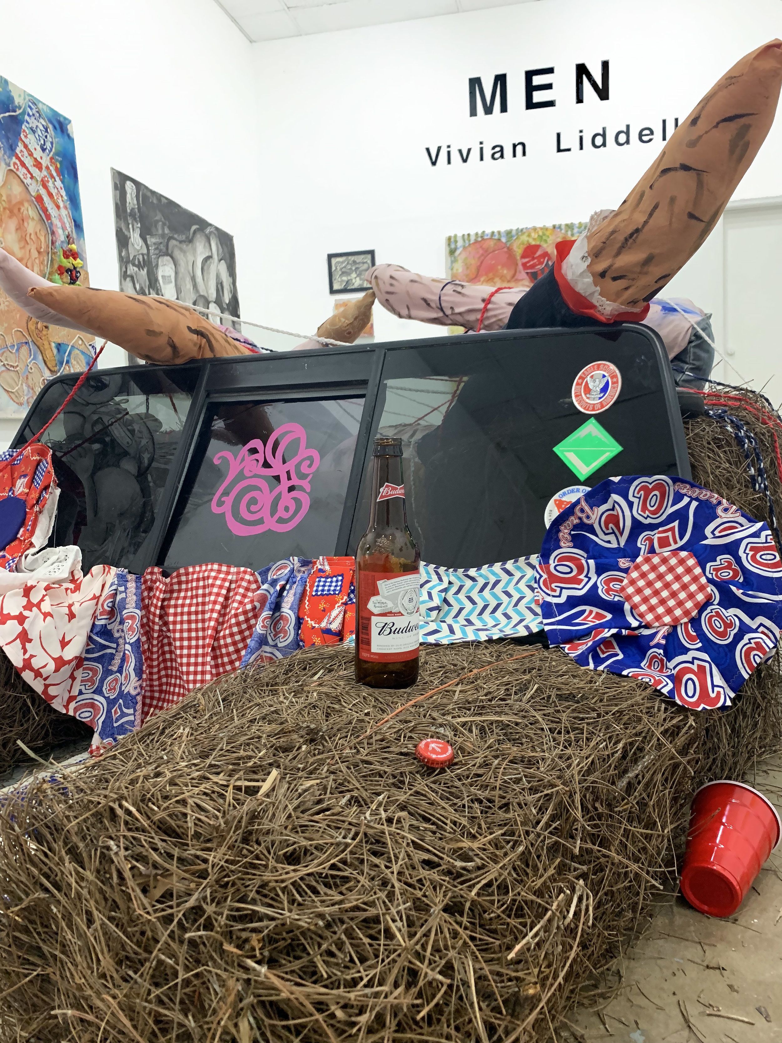 Installation view of Make a (Ma)MAN II: Independence Day at 621 Gallery, Tallahassee, FL, 2019.