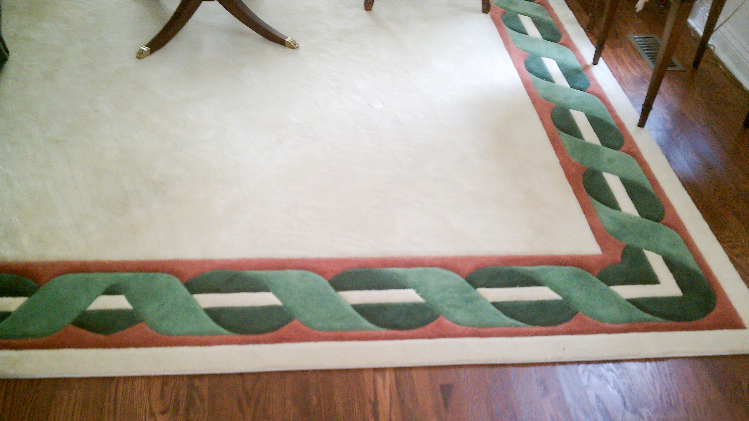 Custom Rug Border and Carving