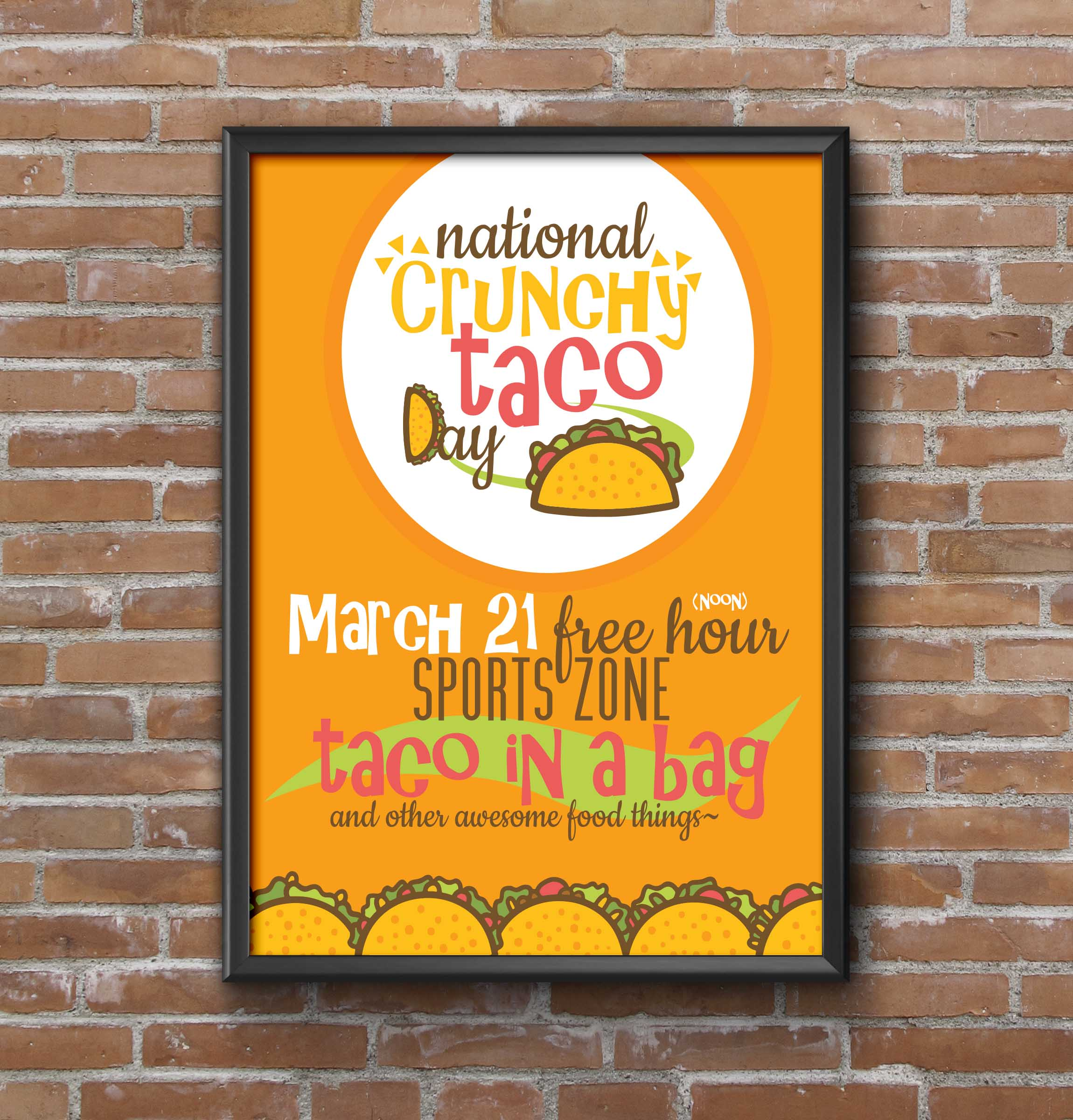 Taco Day Event Poster