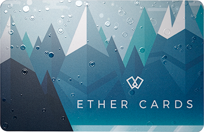 2017 ether.cards Seasonal Design: Front w/ Spot Gloss