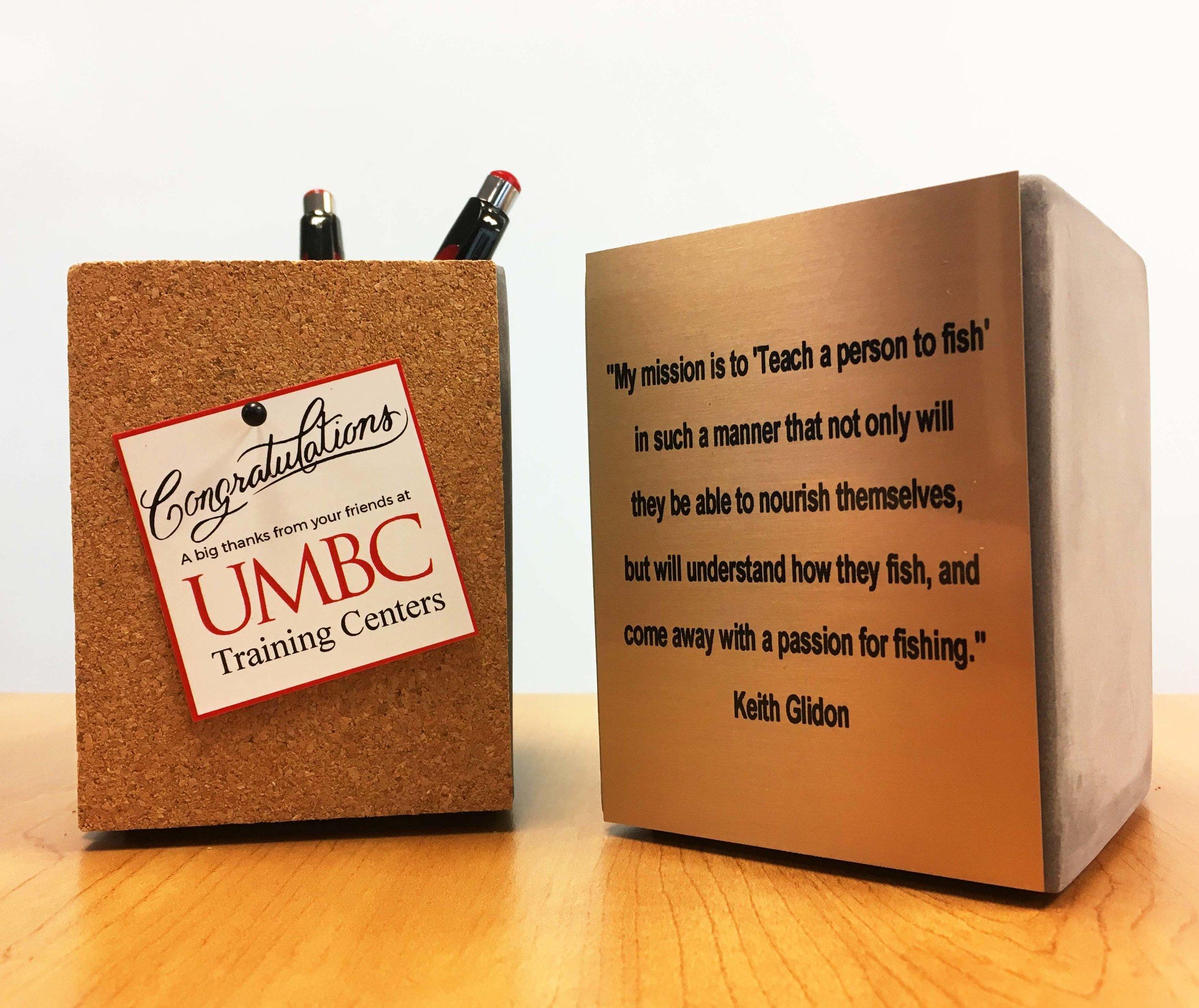 2017 UMBC Training Centers Completion Award Take-Away
