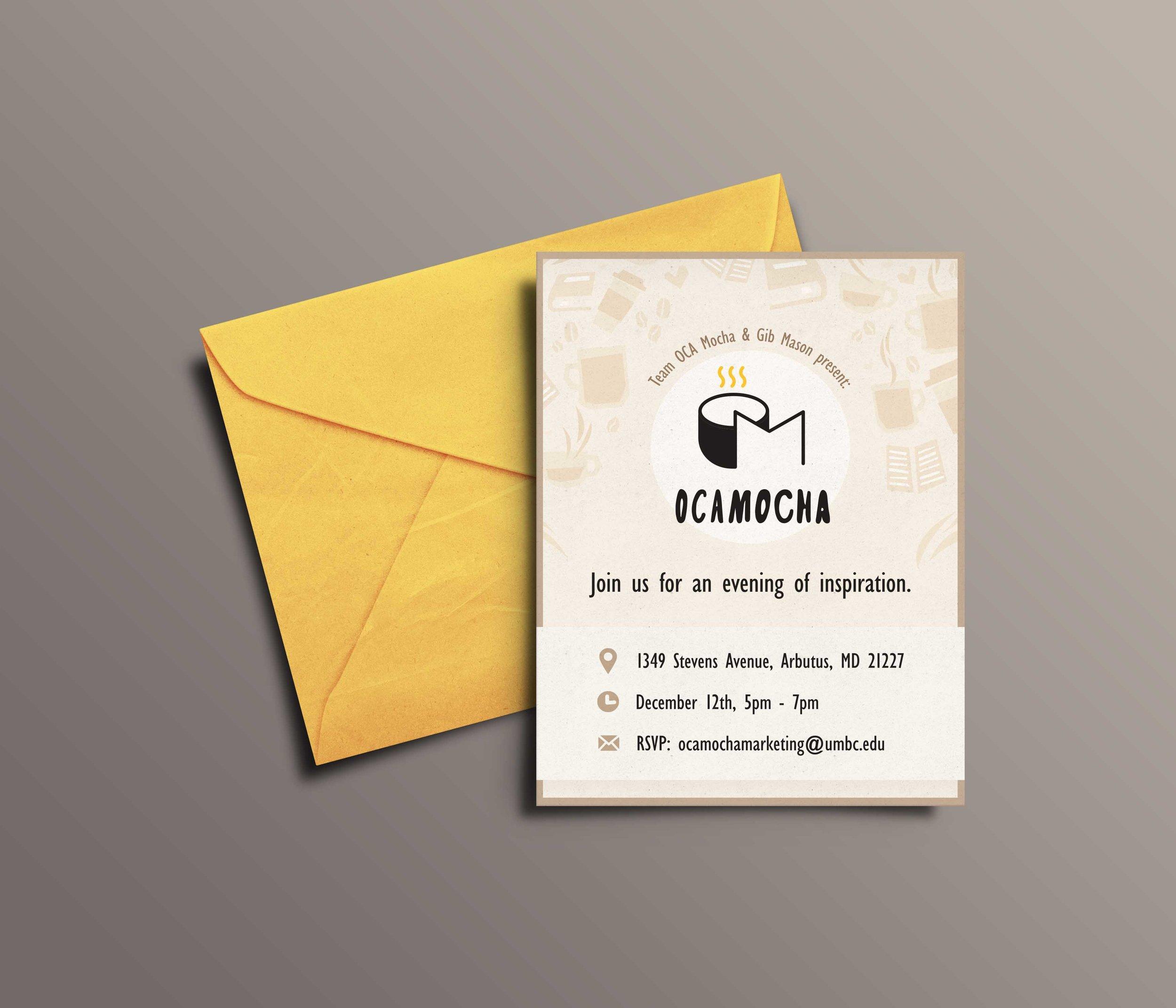 OCAMocha Print Invitation
