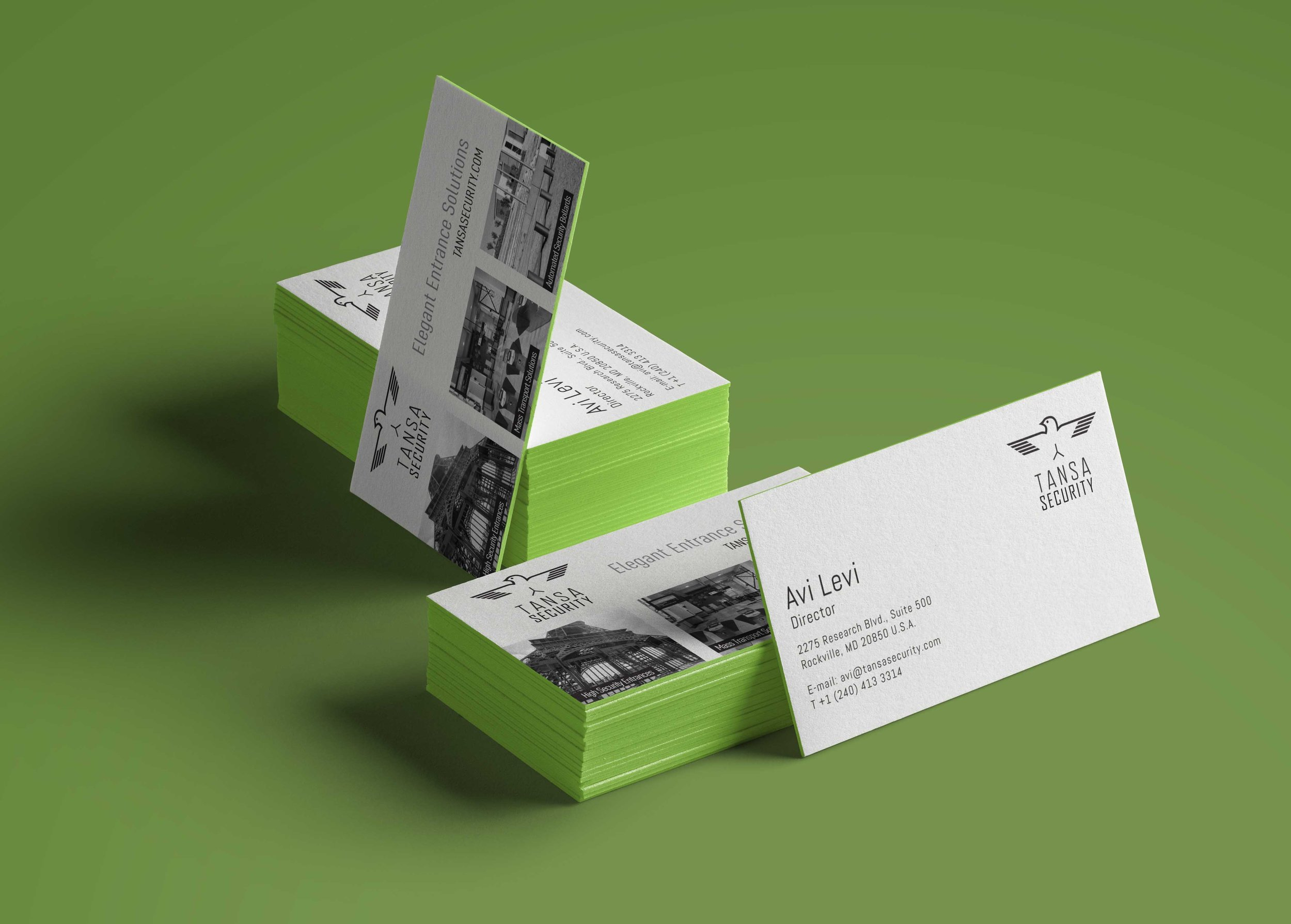 Tansa Security Business Cards