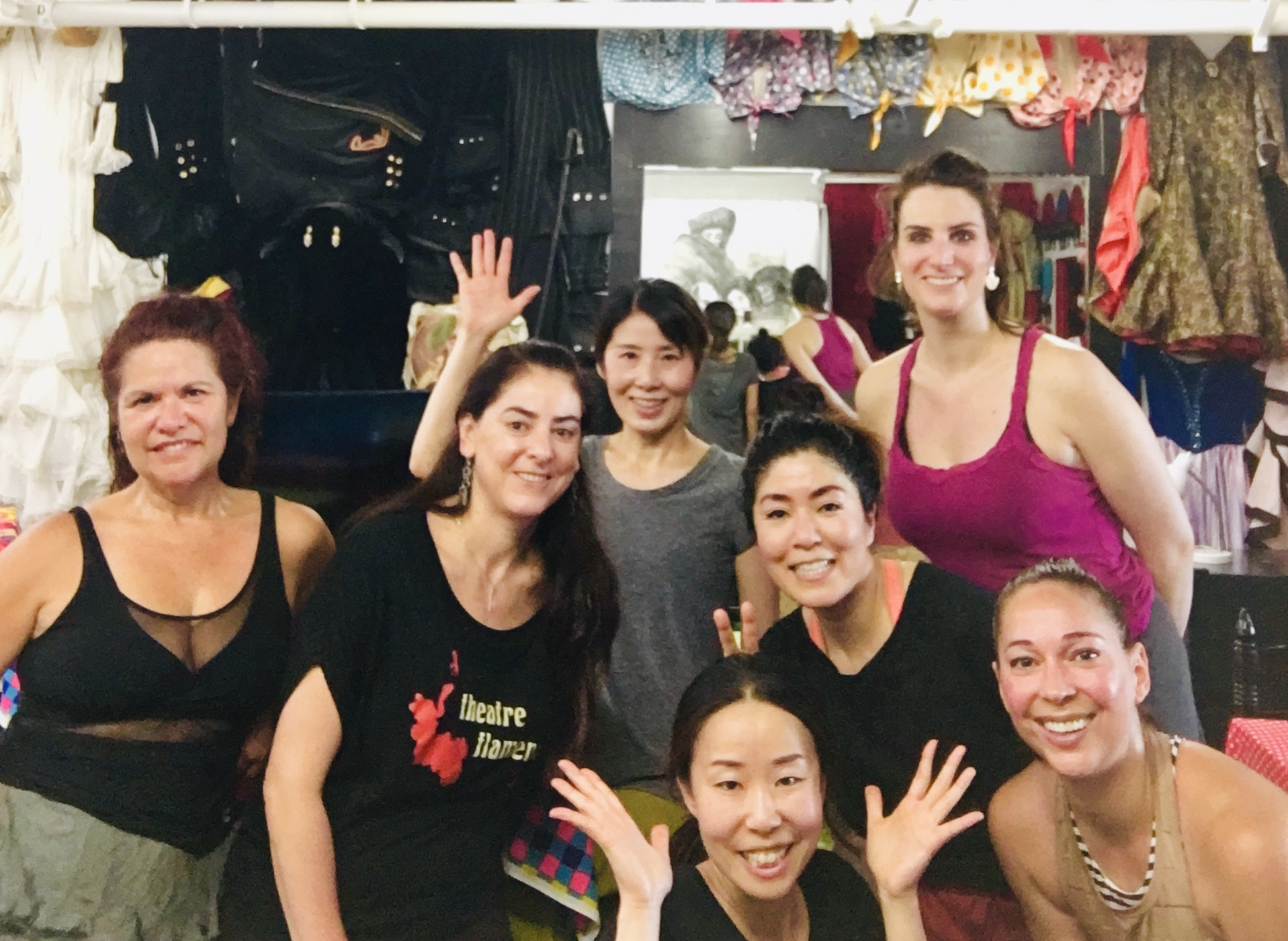 Fun&Unique Team! - They have all different backgrounds but they have been working together for one goal in the last 2 months.3 more weeks to go! Olé!!Theatre Flamenco School student dancers will perform on Saturday, August 24!