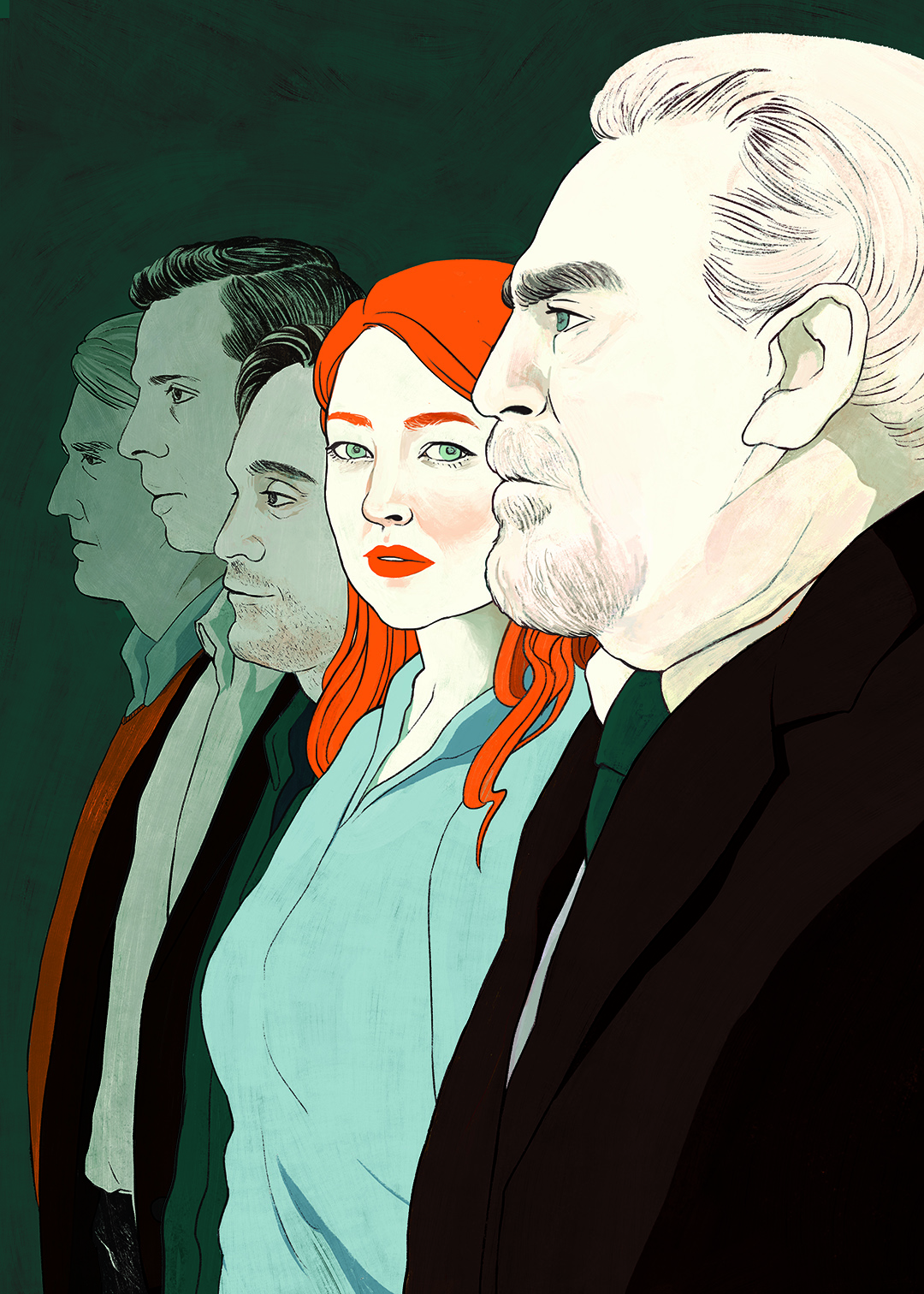 "THE NEW YORKER, <a href=""https://www.newyorker.com/magazine/2018/09/03/successions-satisfyingly-nasty-family-ties""><i>Succession</i>'s Satisfyingly Nasty Family Ties</a>"
