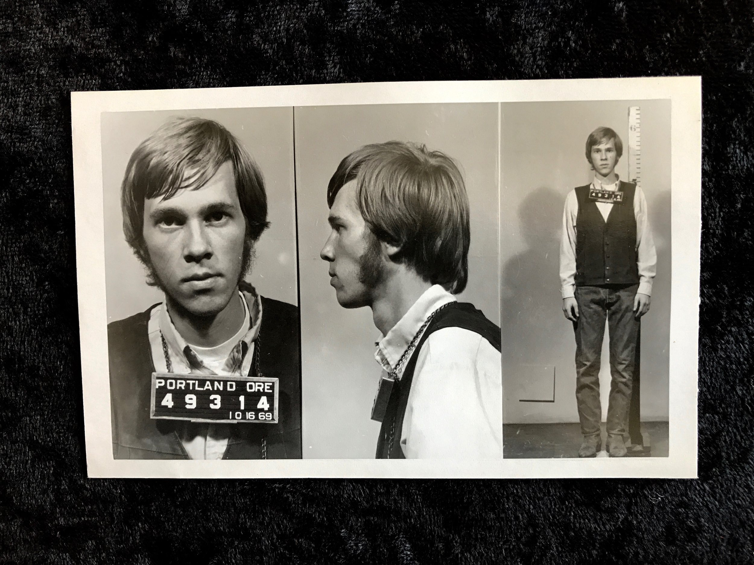 1969 - Hippie Man with Cool Sideburns Busted