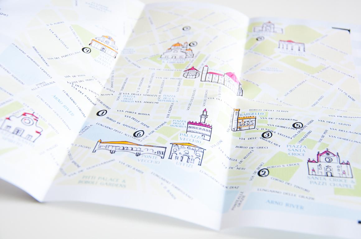 florence wedding map
