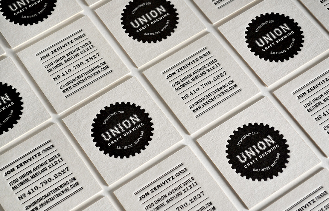 Union Craft Brewing: Business Card Design