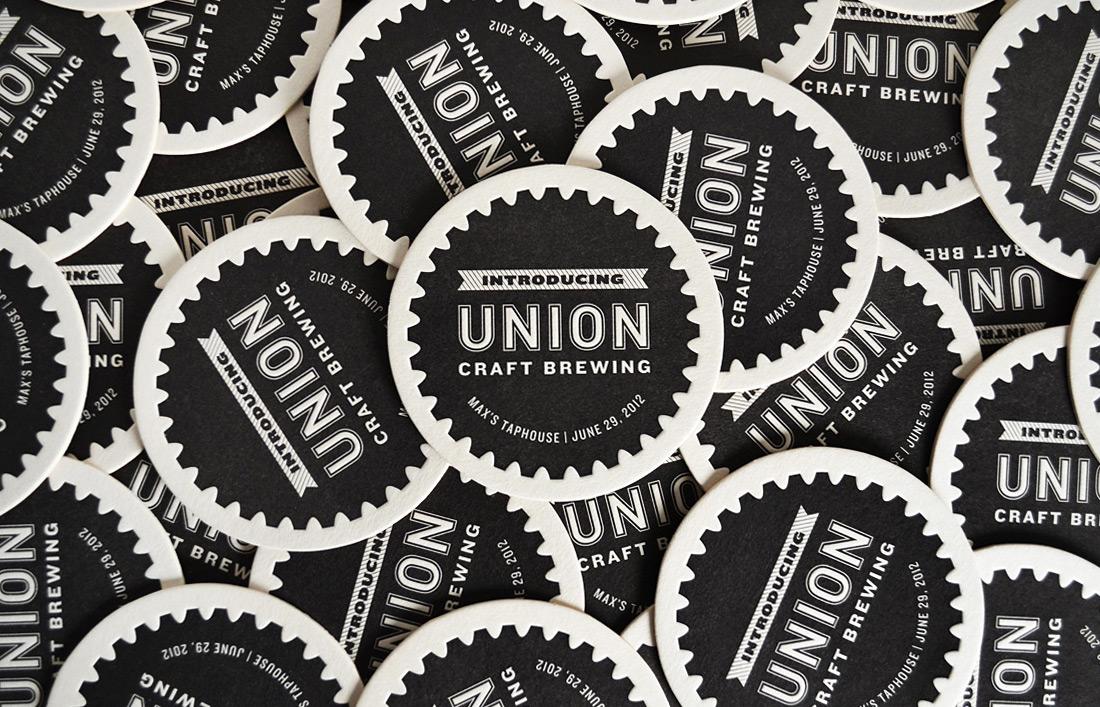 Union Craft Brewing: Coaster Design
