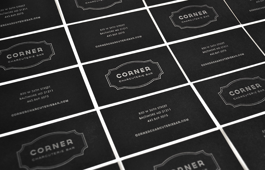 Corner Charcuterie Bar: Business Card Design