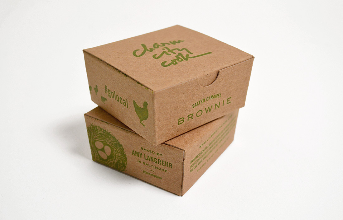 Charm City Cook: Brownie Package Design