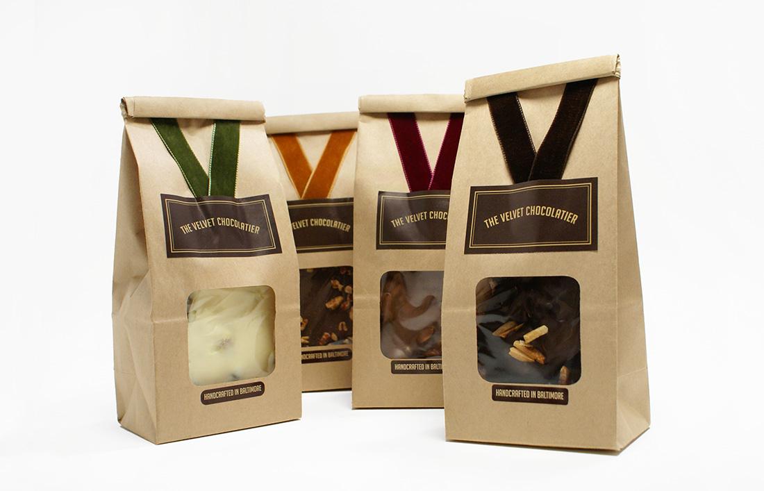 The Velvet Chocolatier: Package Design