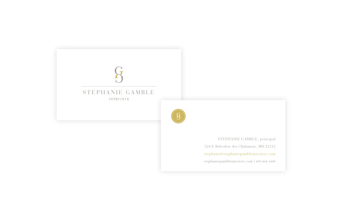 Stephanie Gamble Interiors: Business Card Design