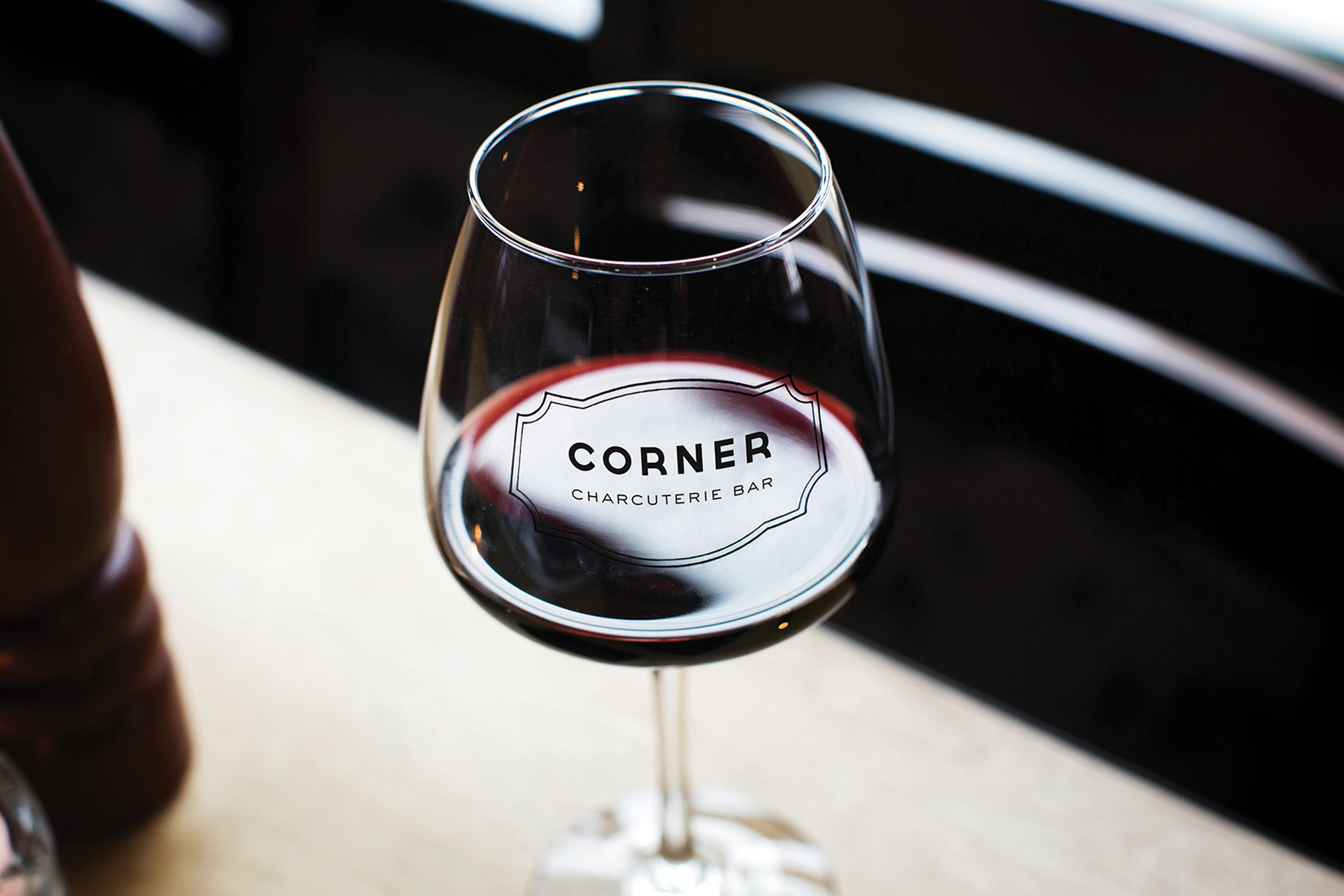 Corner Charcuterie Bar: Glassware Design