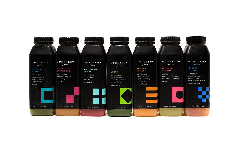 Gundalow Juice: Bottle Package Design