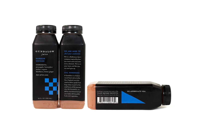 Gundalow Juice: Bottle Package Design for Harbor Voyage