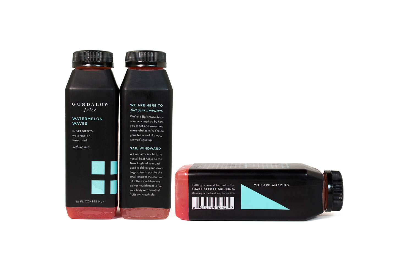 Gundalow Juice: Bottle Package Design for Watermelon Waves