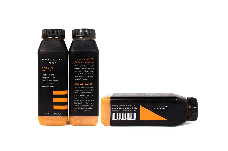 Gundalow Juice: Bottle Package Design for Sailor's Delight