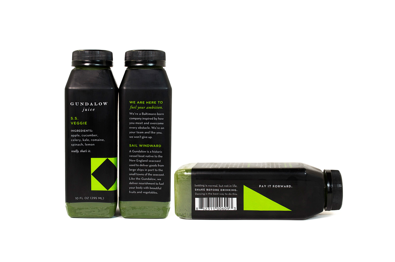 Gundalow Juice: Bottle Package Design for S.S. Veggie