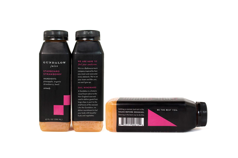 Gundalow Juice: Bottle Package Design for Starboard Strawberry