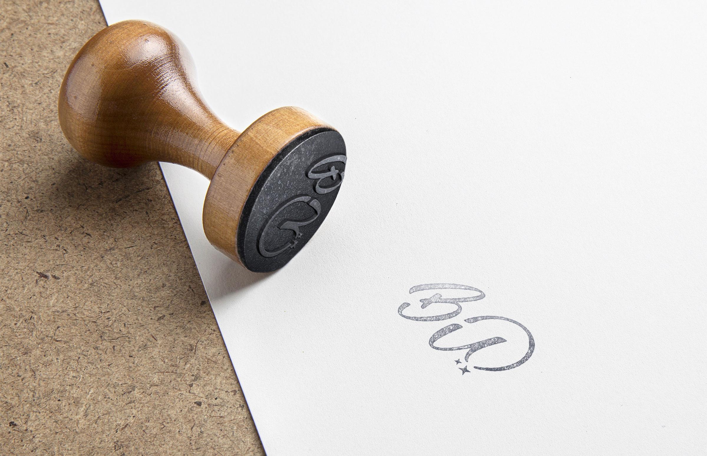Bottoms Up Bagels: Stamp Design