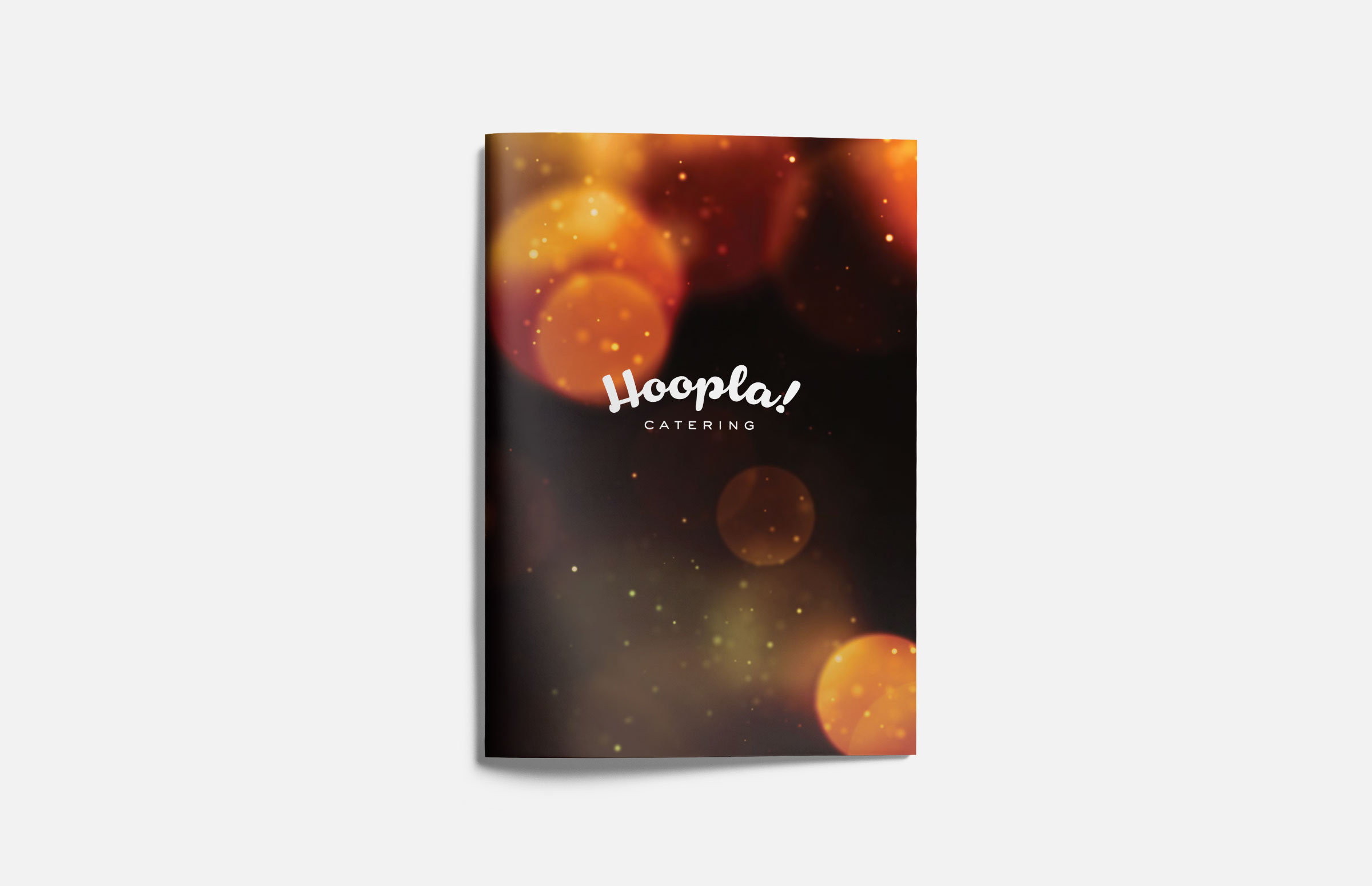 Hoopla! Catering: Informational Booklet Design
