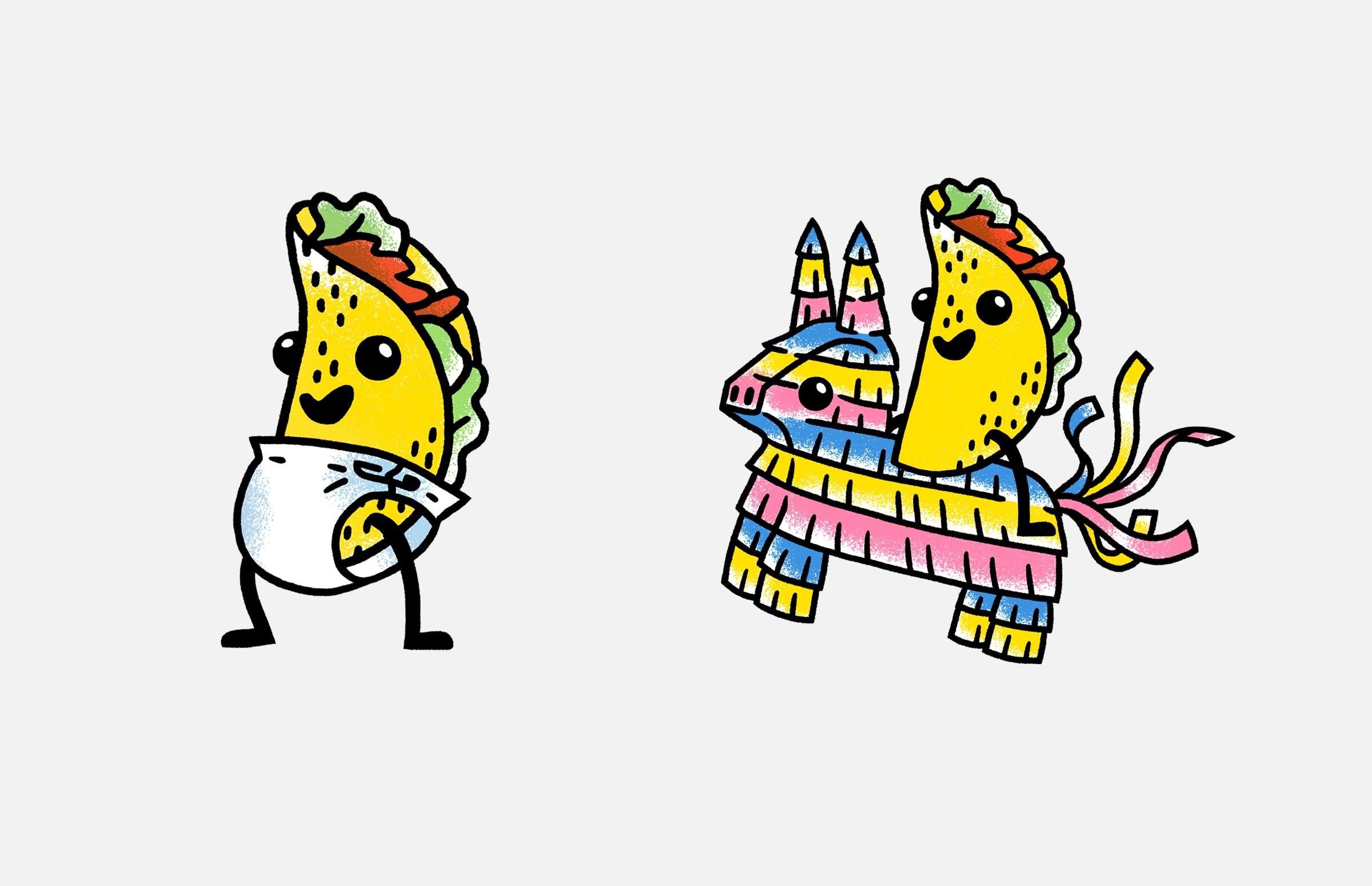 La Food Marketa: Tacopalooza Mascot Illustrations