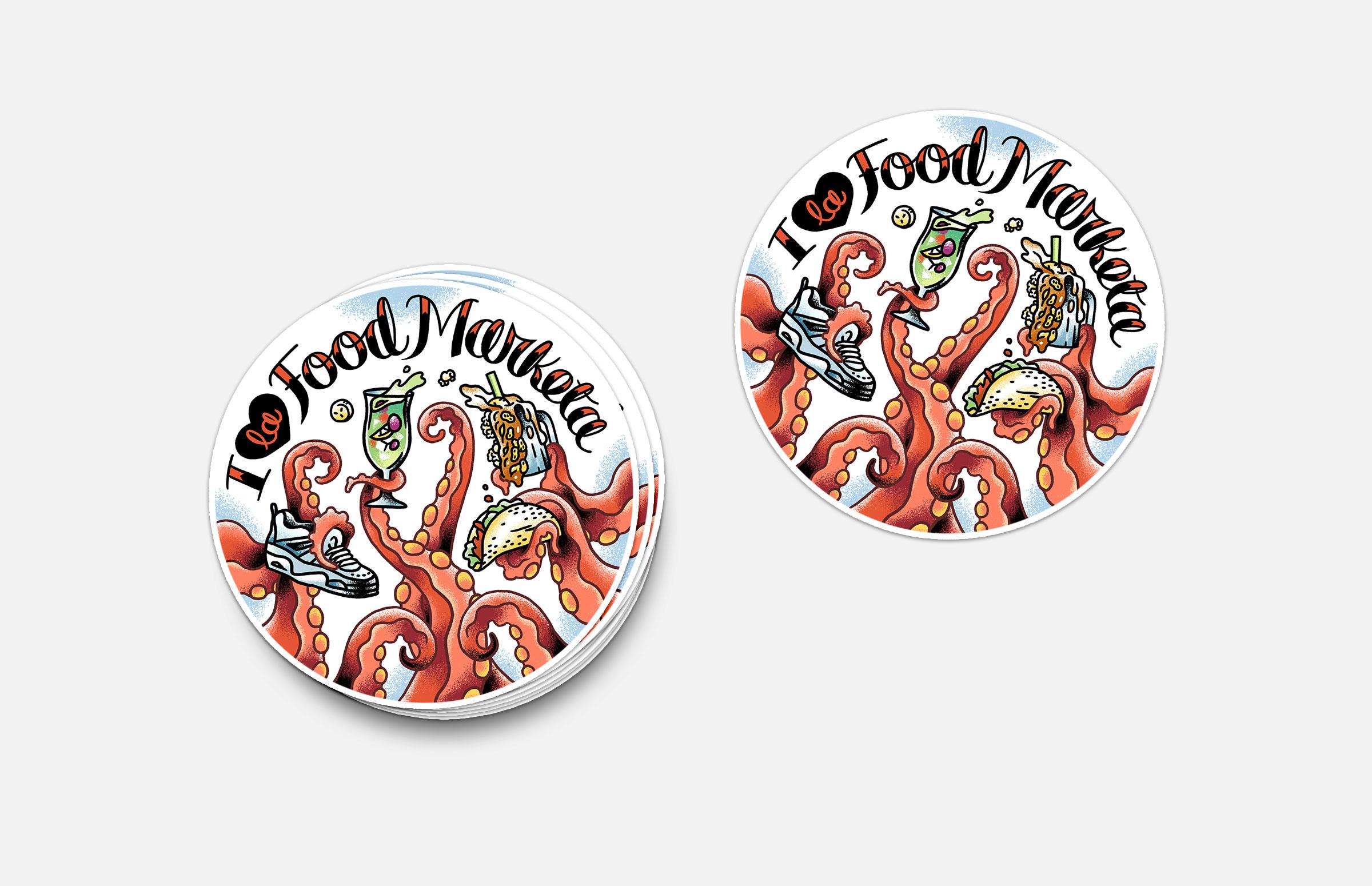 La Food Marketa: Sticker Design