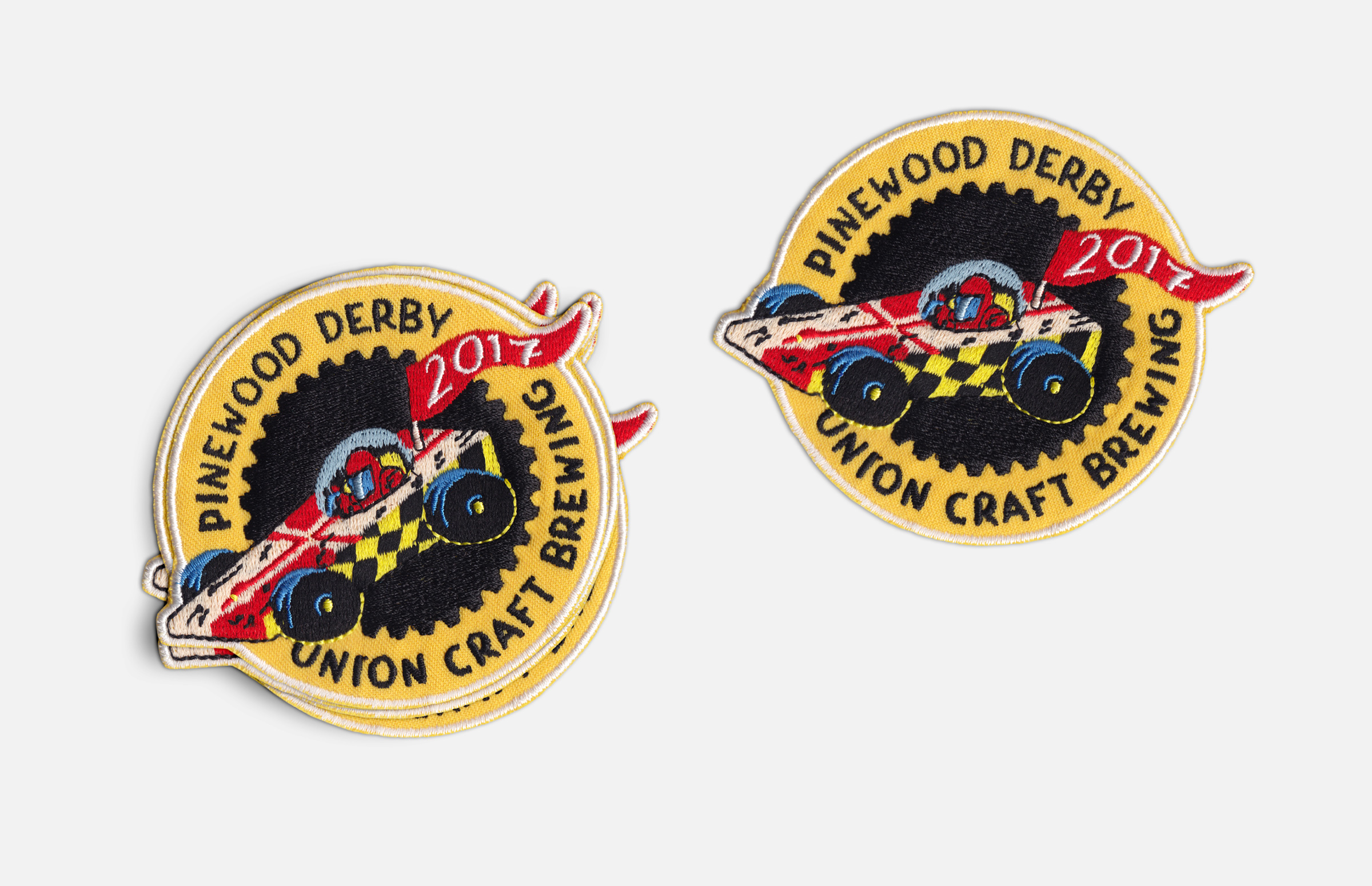Union Craft Brewing: 2017 Pinewood Derby Embroidered Patch