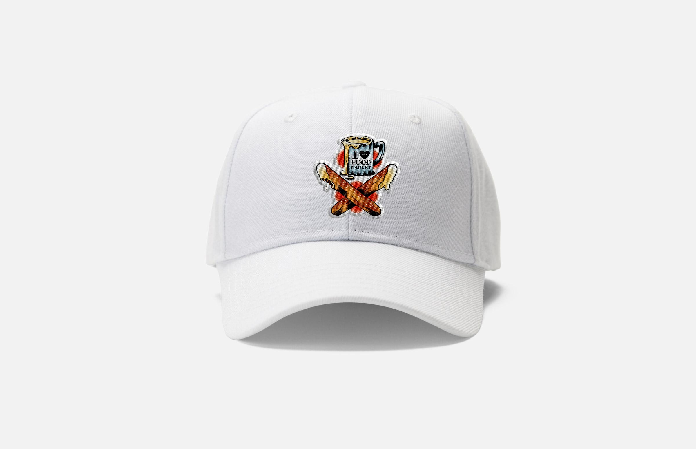 The Food Market: Dad Hat Design