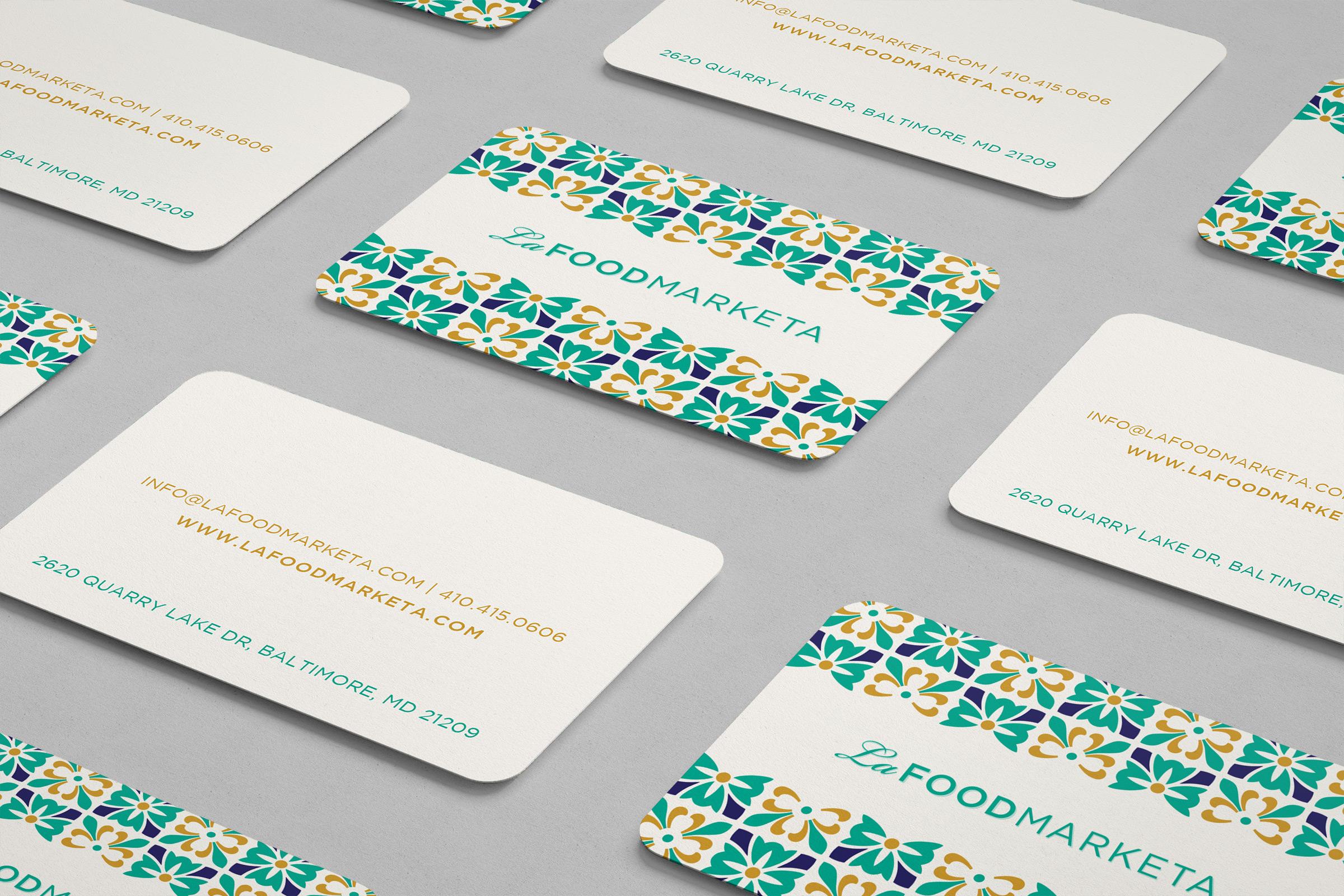 La Food Marketa: Business Card Design