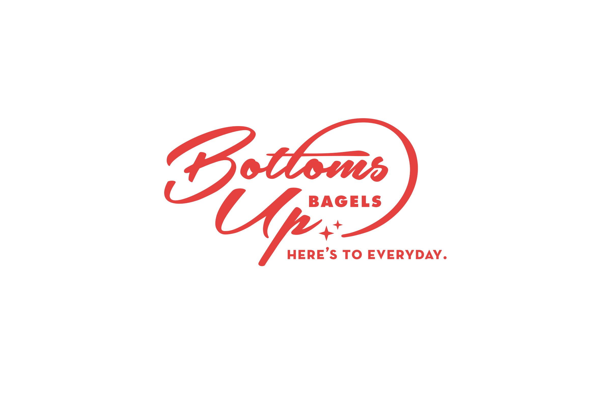 Bottoms Up Bagels: Logo Design