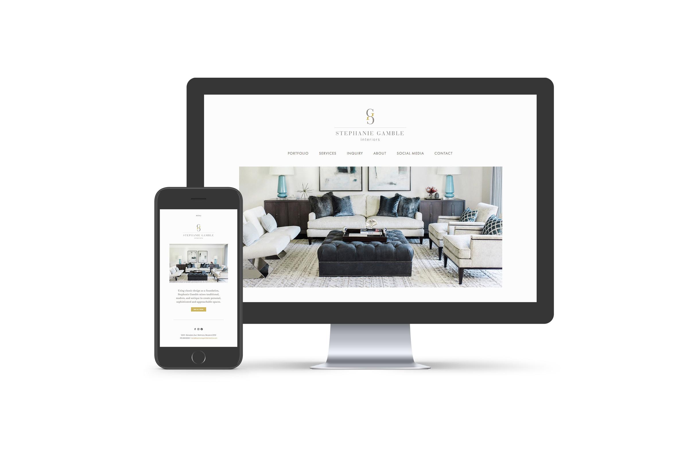 Stephanie Gamble Interiors: Responsive Website Design