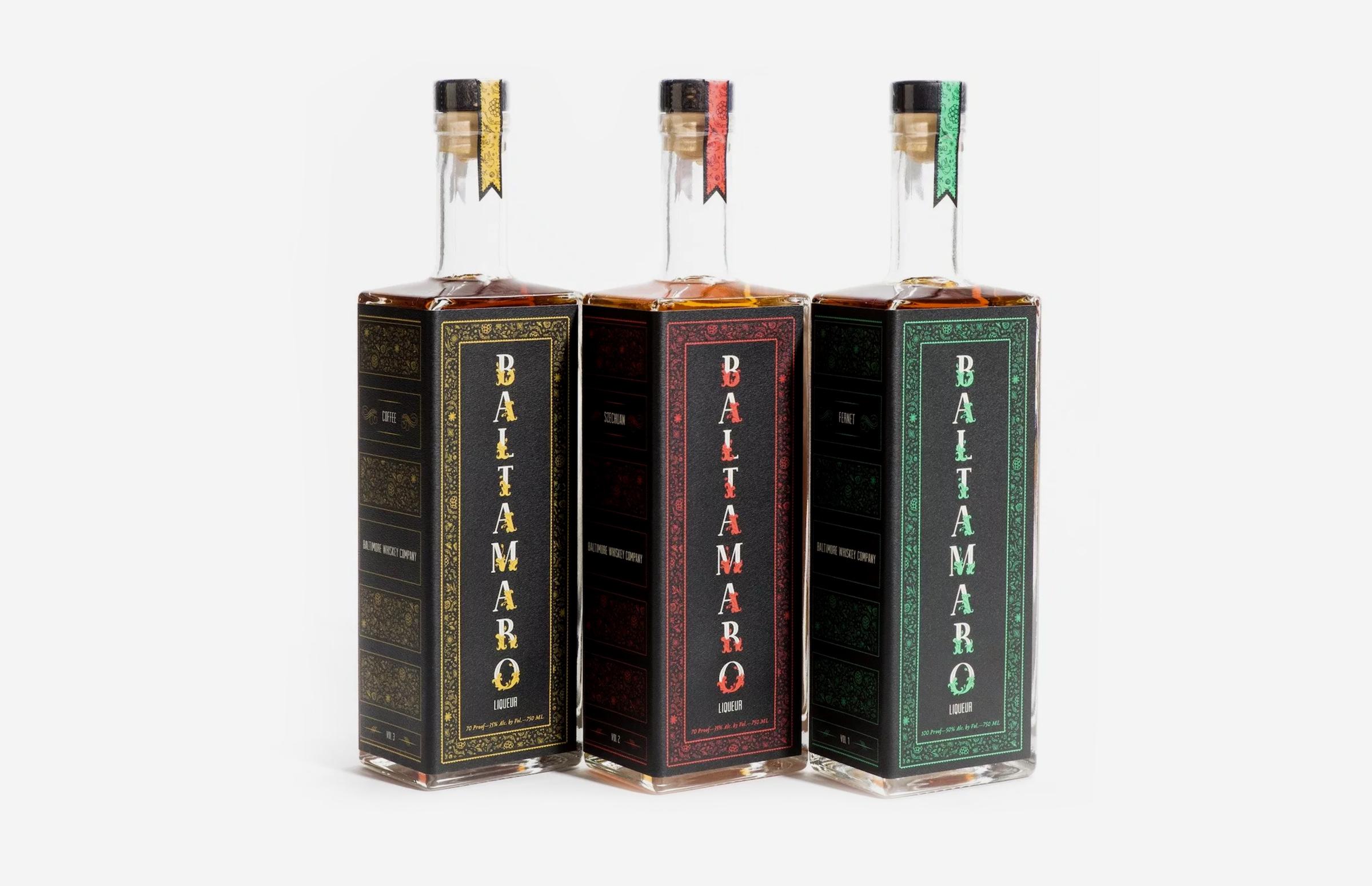 Baltimore Spirits Company: Baltamaro Bottle Design
