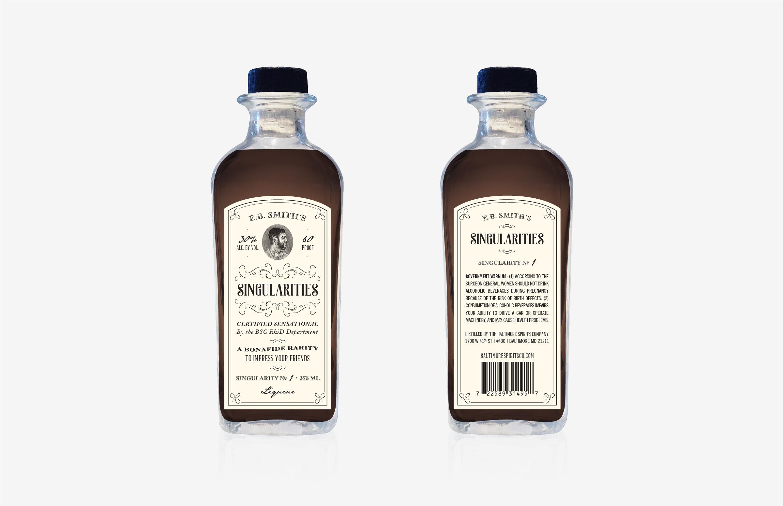 Baltimore Spirits Company: Singularities Bottle Design