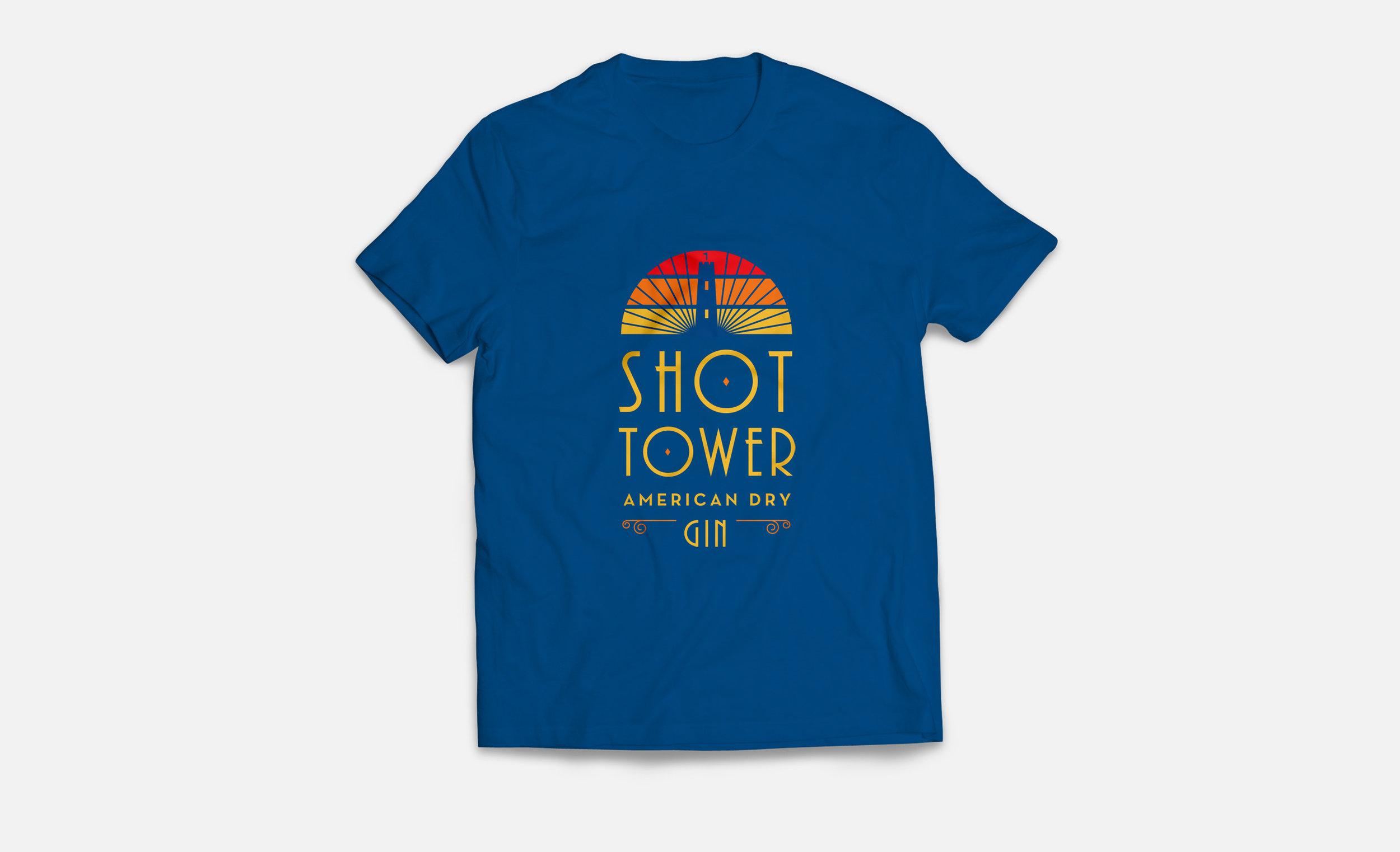 Baltimore Spirits Company: Shot Tower Gin Shirt Design