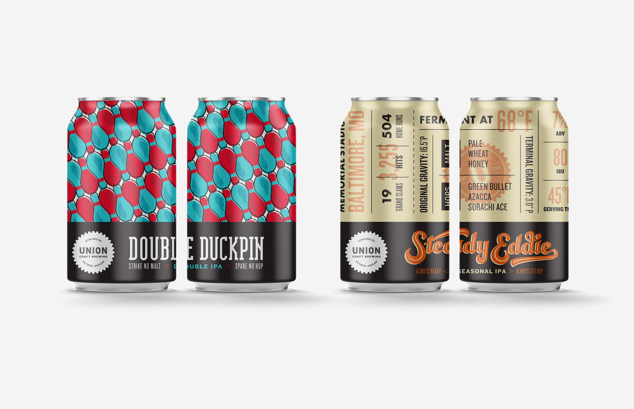 Union Craft Brewing: Seasonal IPA Beer Can Designs