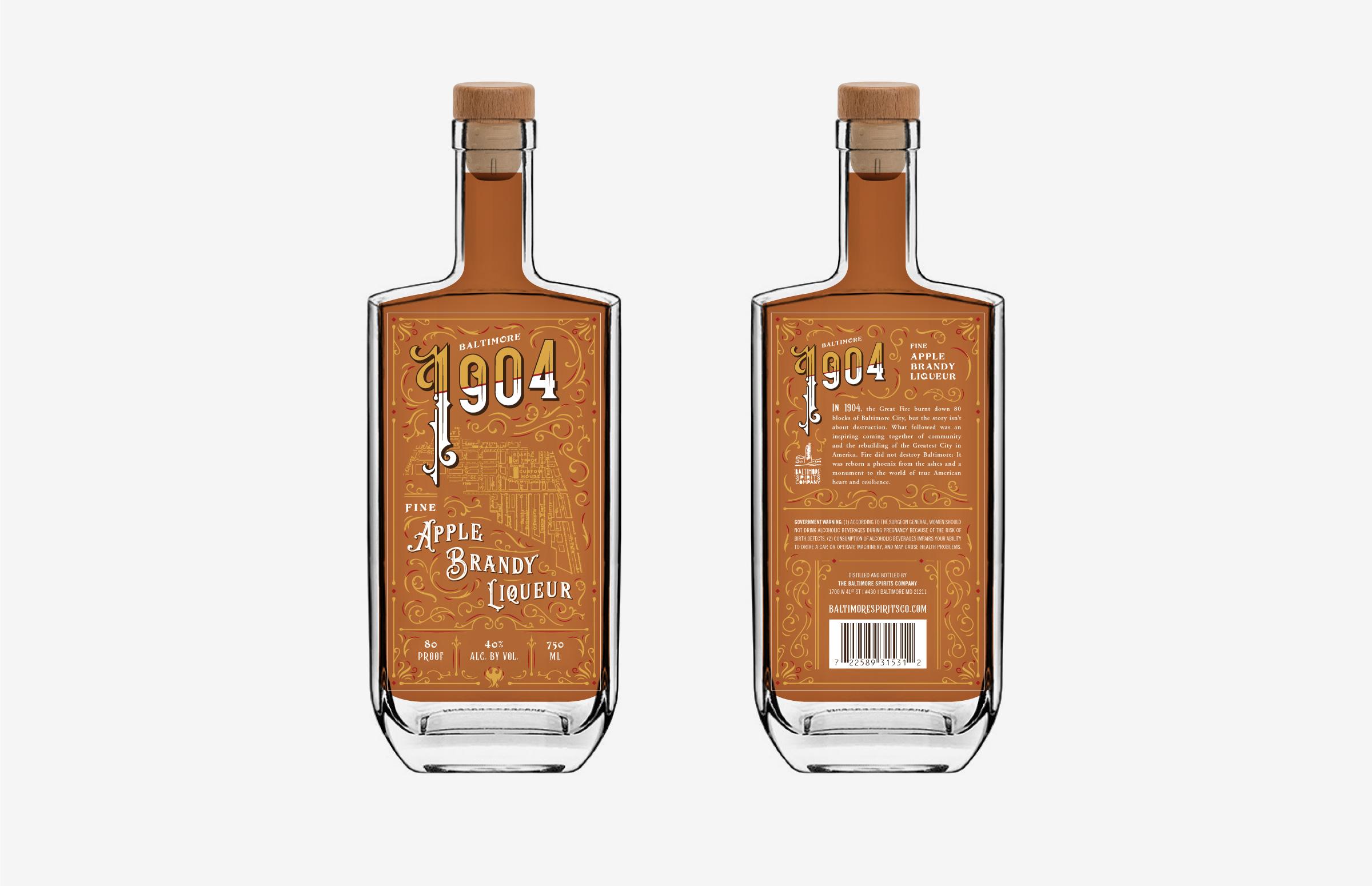 Baltimore Spirits Company: 1904 Bottle Design