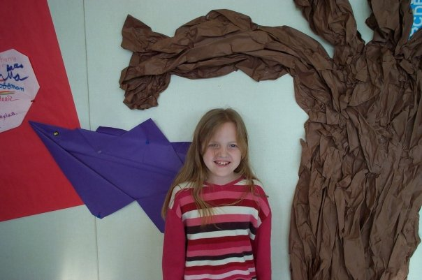 Me getting my photo taken at Toyon Elementary School after receiving an Art Award.