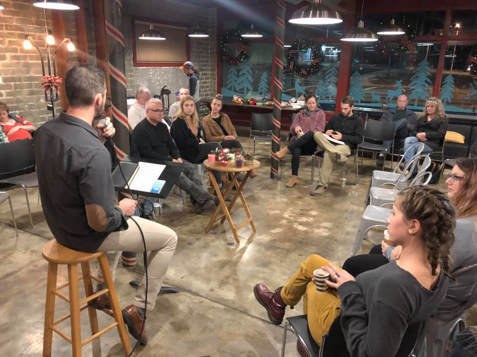 Photo from Celebration, our weekly Sunday evening gathering.