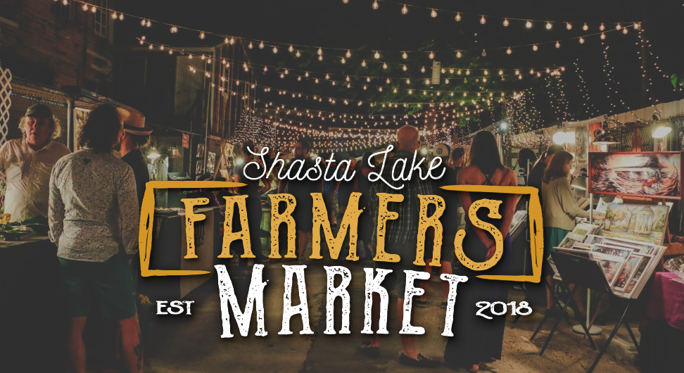 Shasta Lake Farmers Market is and Evening Market that occurs at Heritage Roasting Co in Shasta Lake near Redding Ca