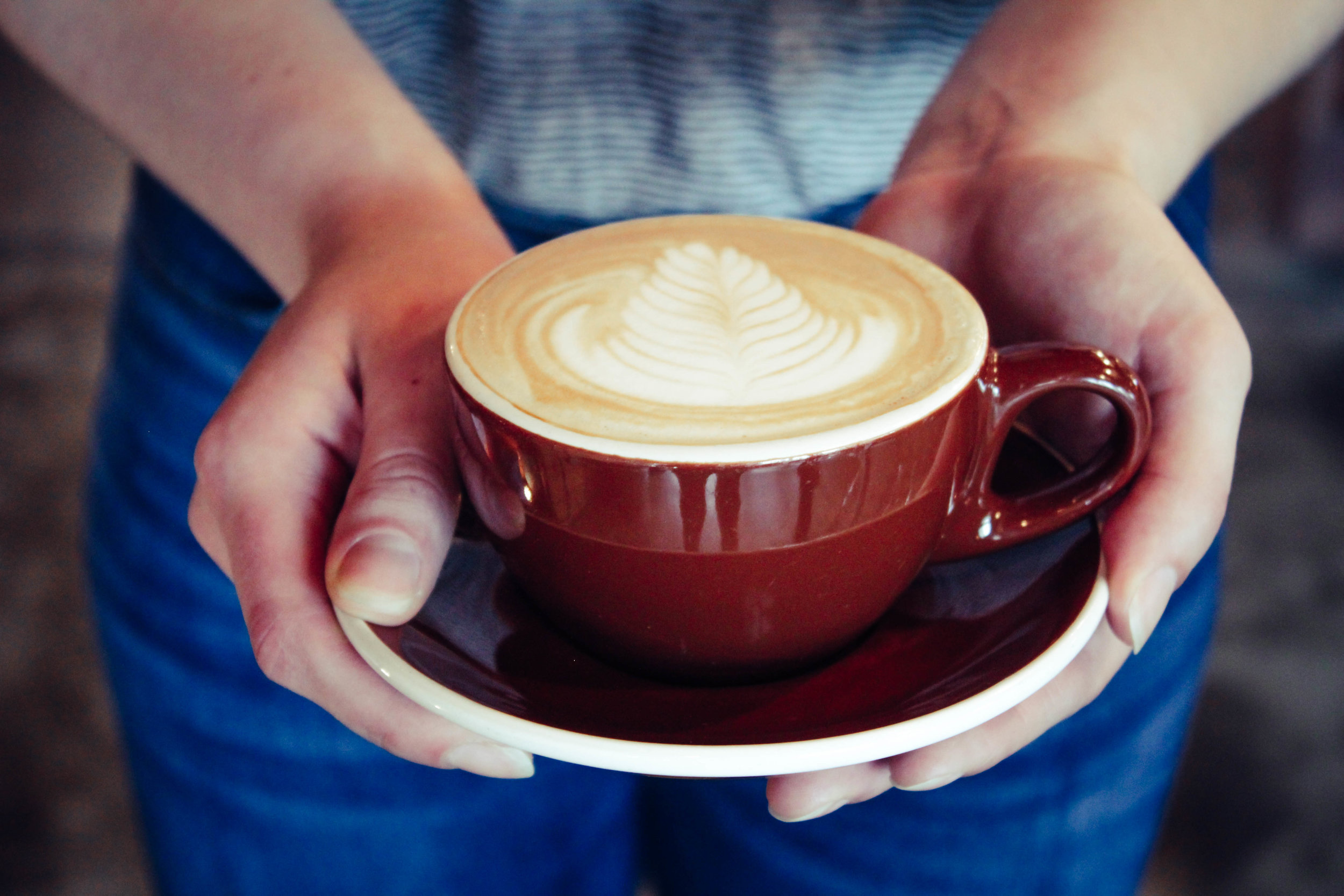 Perfect cappuccino available at Heritage Roasting Company in Shasta Lake, near Redding in Northern California