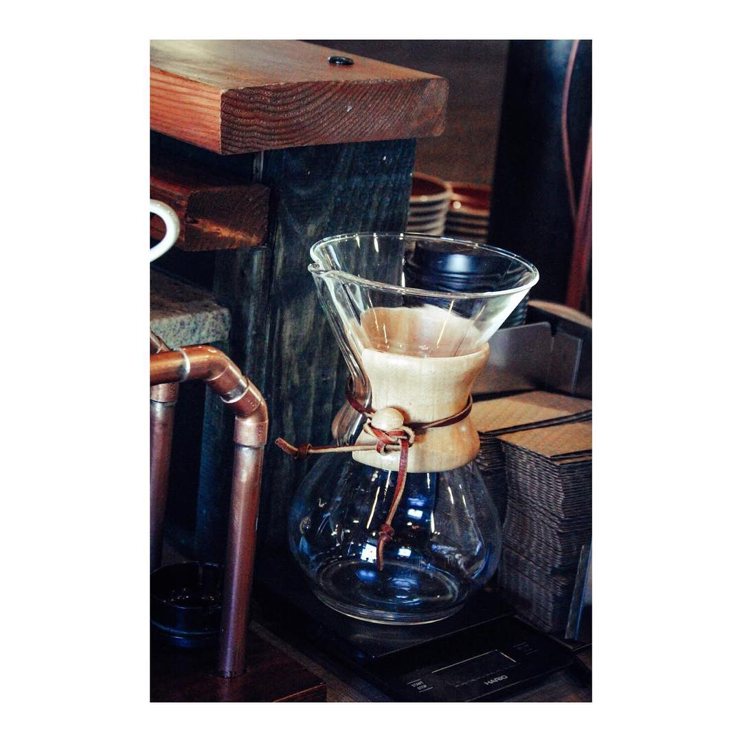 A beautiful Chemex from Heritage Roasting Company in Shasta Lake near Redding in Northern California.