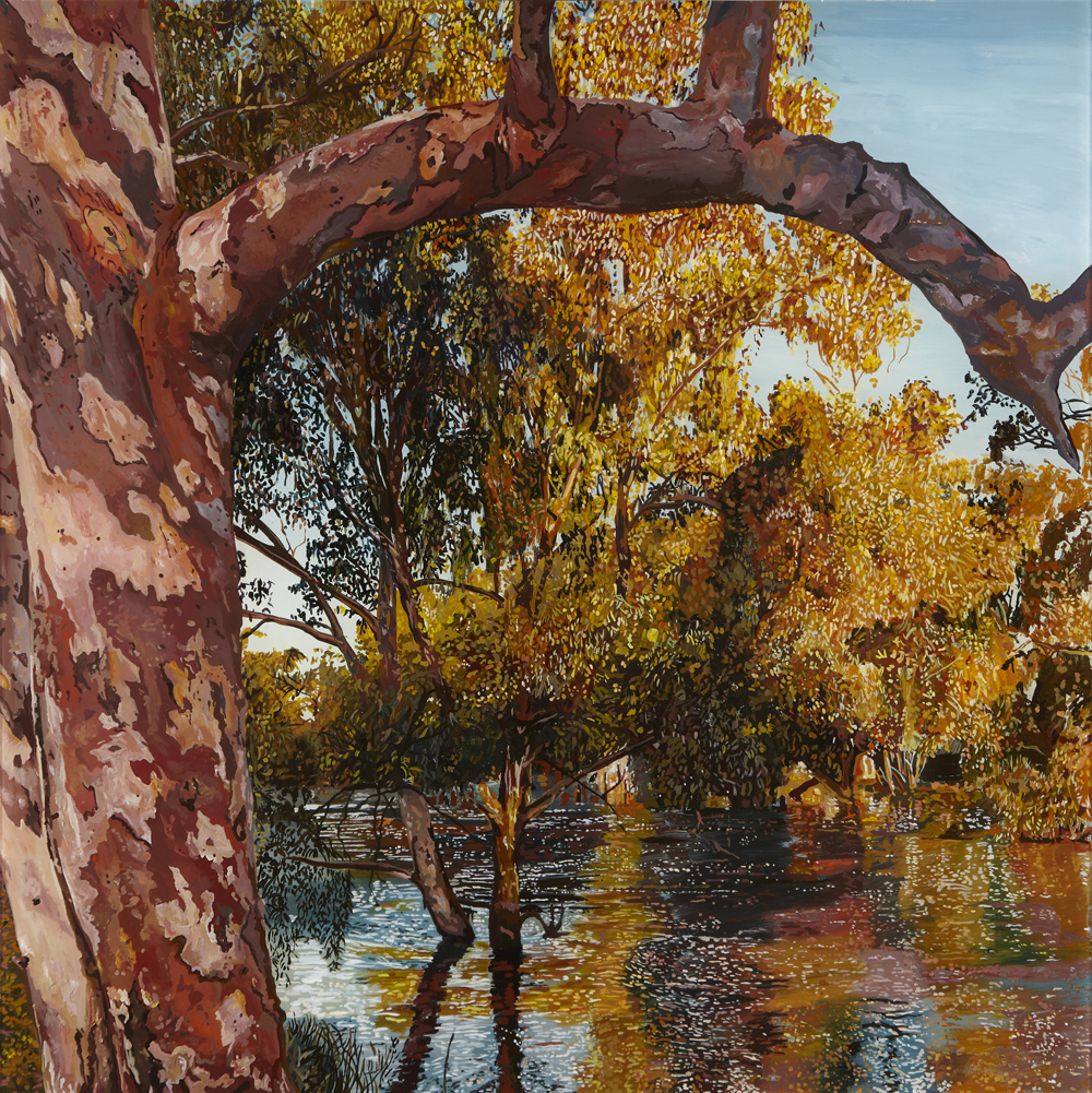 Flooded Gum  Acrylic on plexiglass 12in x 12in 2015